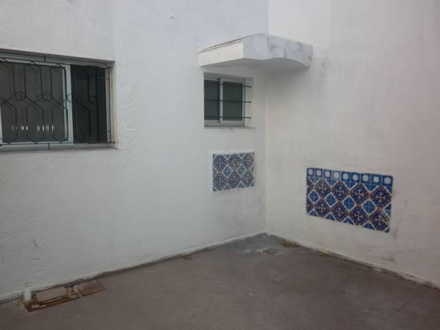 Patio de separación de ambas propiedades